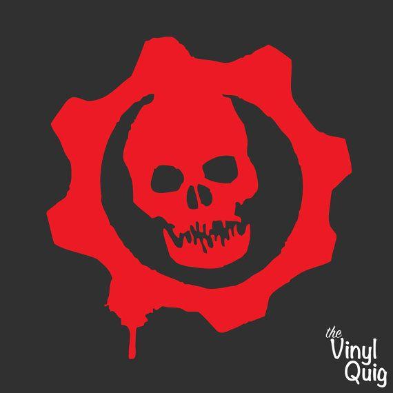 Gears Of War Vinyl Sticker Https Www Etsy Com Listing 263840673 Gears Of War Logo Vinyl Sticker Red Or Luis Videojuegos Cosas