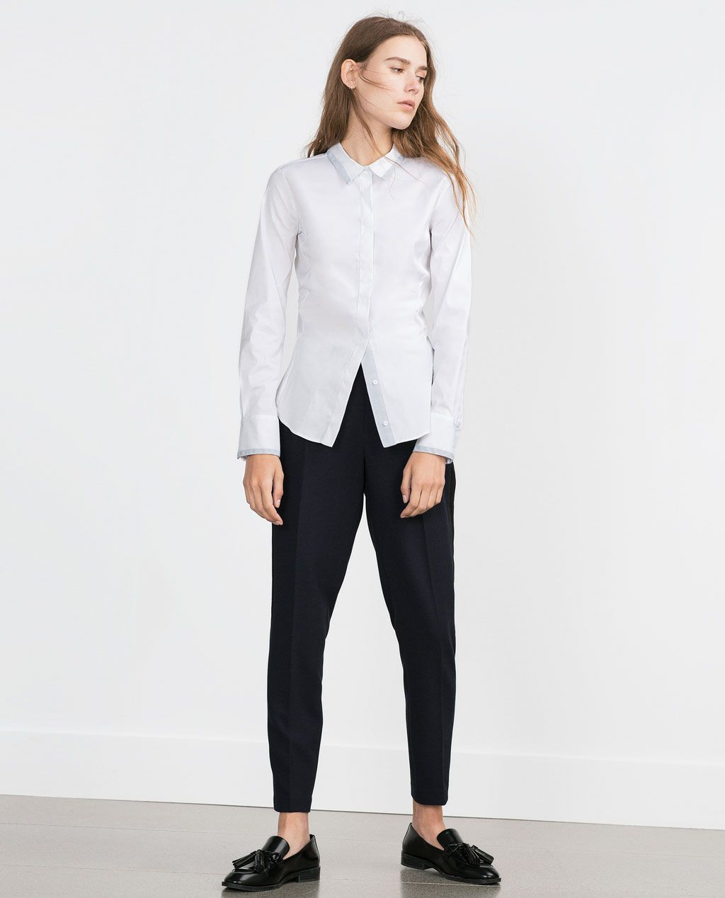 BASIC SHIRT-View all-Tops-WOMAN | ZARA United States