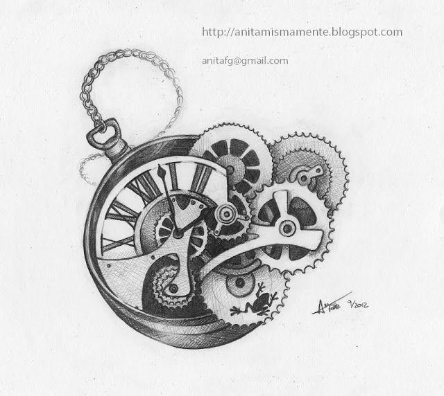 Pin De Lolan En Steampunk Cuadros De Angeles Reloj Dibujos