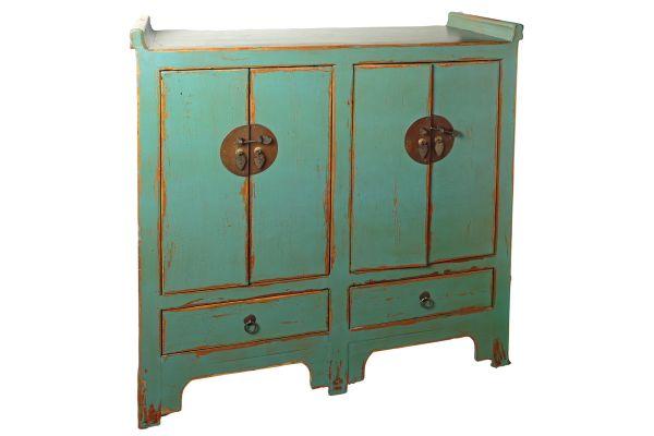 Artesanato E Reciclagem Com Garrafa Pet ~ Aparador Chino Azul Turquesa Decapado Muebles y Decoración Oriental Pinterest