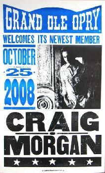 Craig Morgan Opry Induction Hatch Show Print