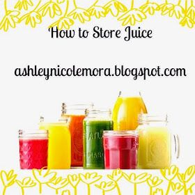 Sparkling from the Inside Out (A Juicing Blog) : How to Store Juice