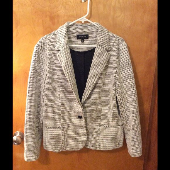Talbots black and white blazer Super cute black and white blazer. Polyester blend so it's not itchy!! Like new! Talbots Jackets & Coats Blazers