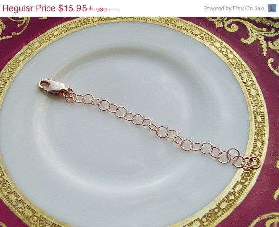 Rose Gold Necklace Extender Jewelry Extender 14K Rose Gold Fill