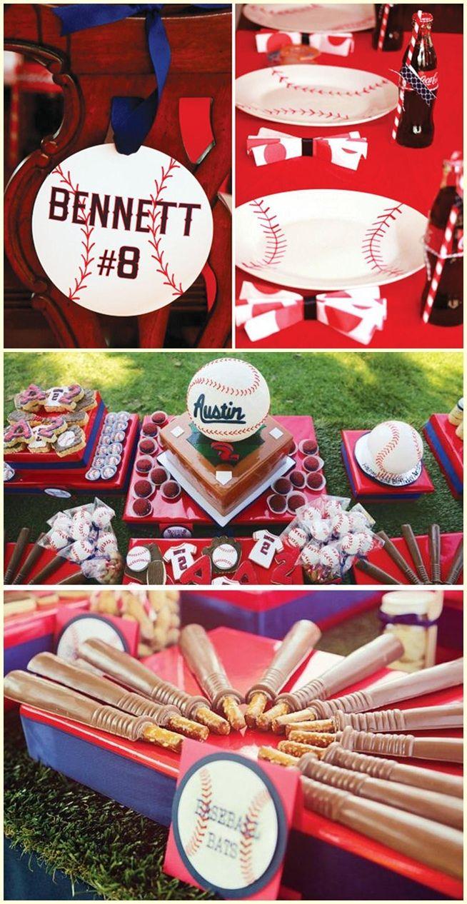 Baseball Birthday Party Centerpiece Ideas Baseball Themed