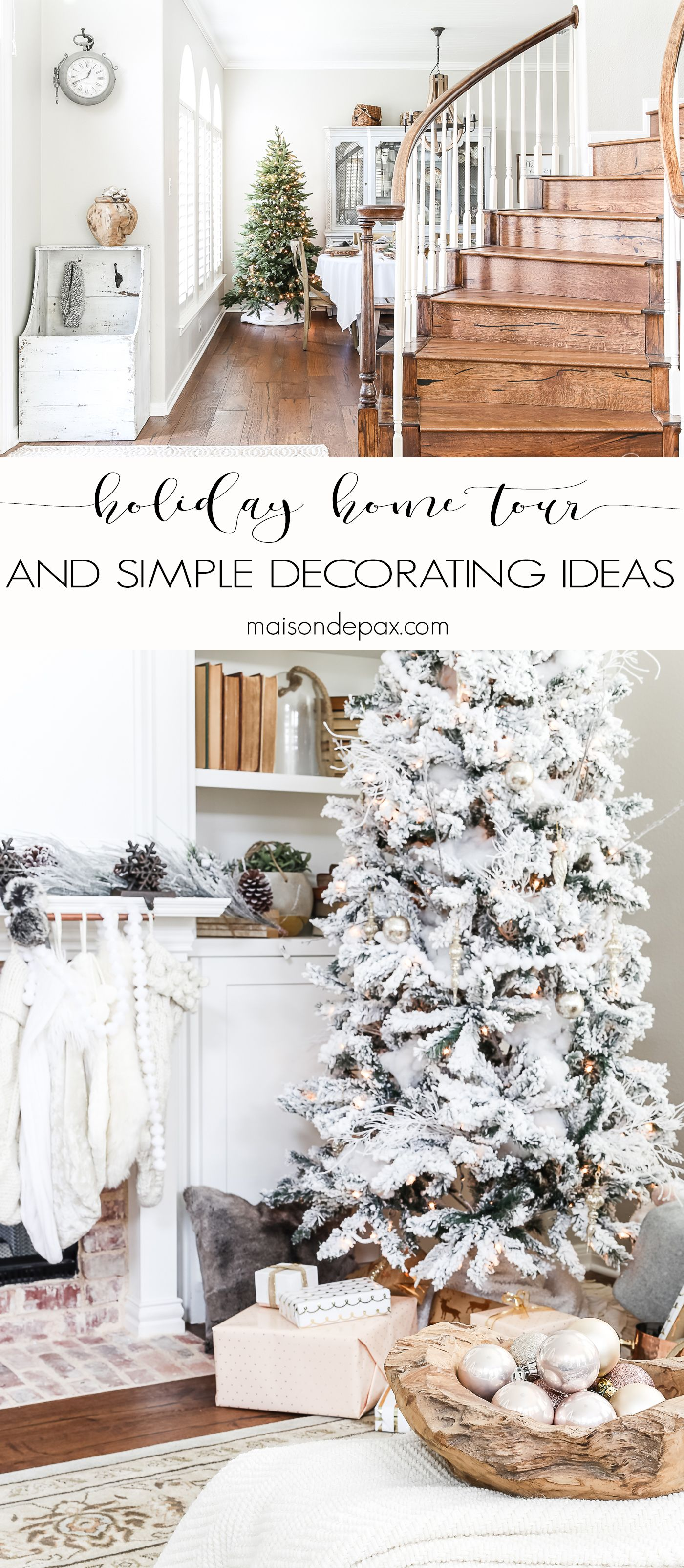 Simple Holiday Decorating: Christmas Home Tour | Trees, Trees, Trees ...