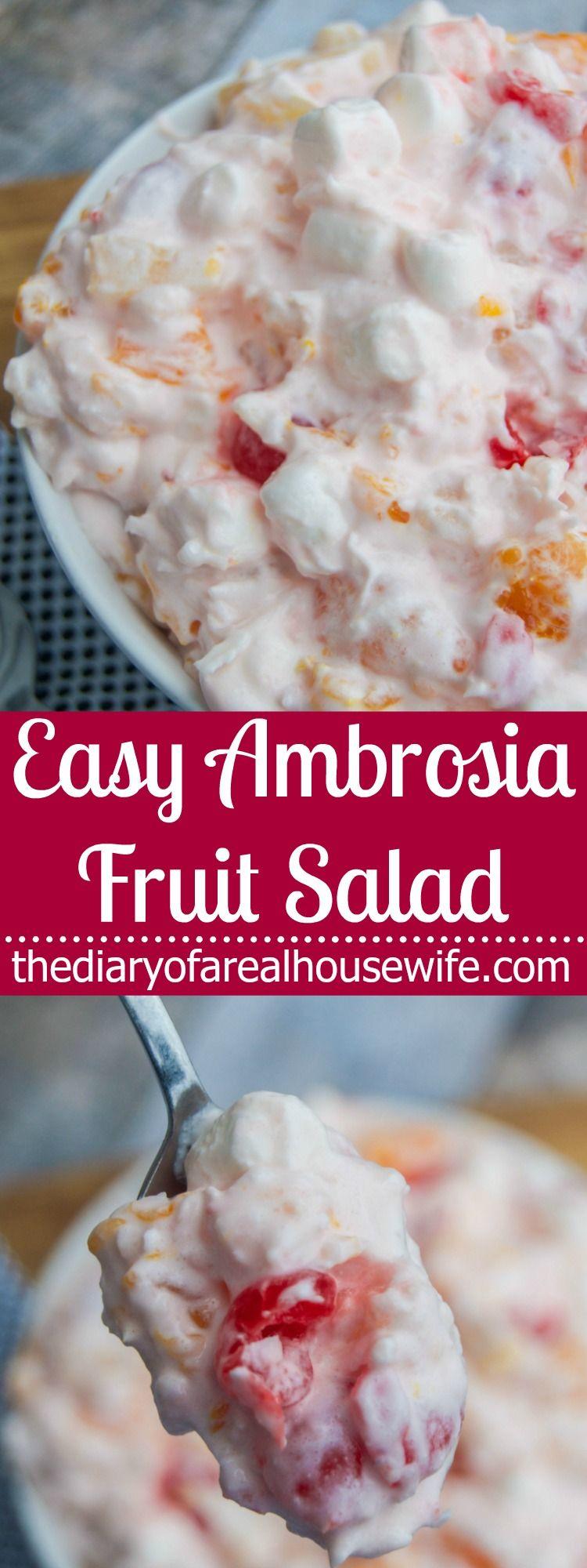 Easy Ambrosia Fruit Salad | Amazing Appetizers! | Pinterest | Salad ...