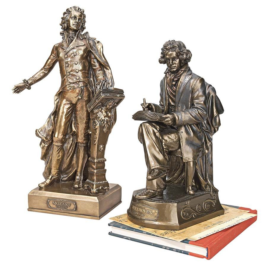 Park Avenue Collection S/ Mozart & Beethoven Composer Statues