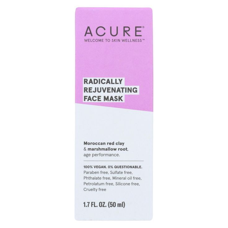 Acure – Mask – Facial – Red Clay – 1.7 Fl Oz – 2019