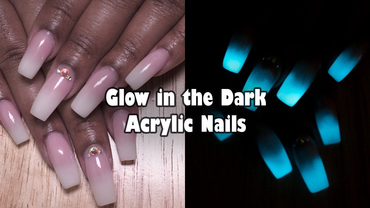 Glow in the Dark Acrylic Nails | French Ombre / Baby Boomer Nails ...