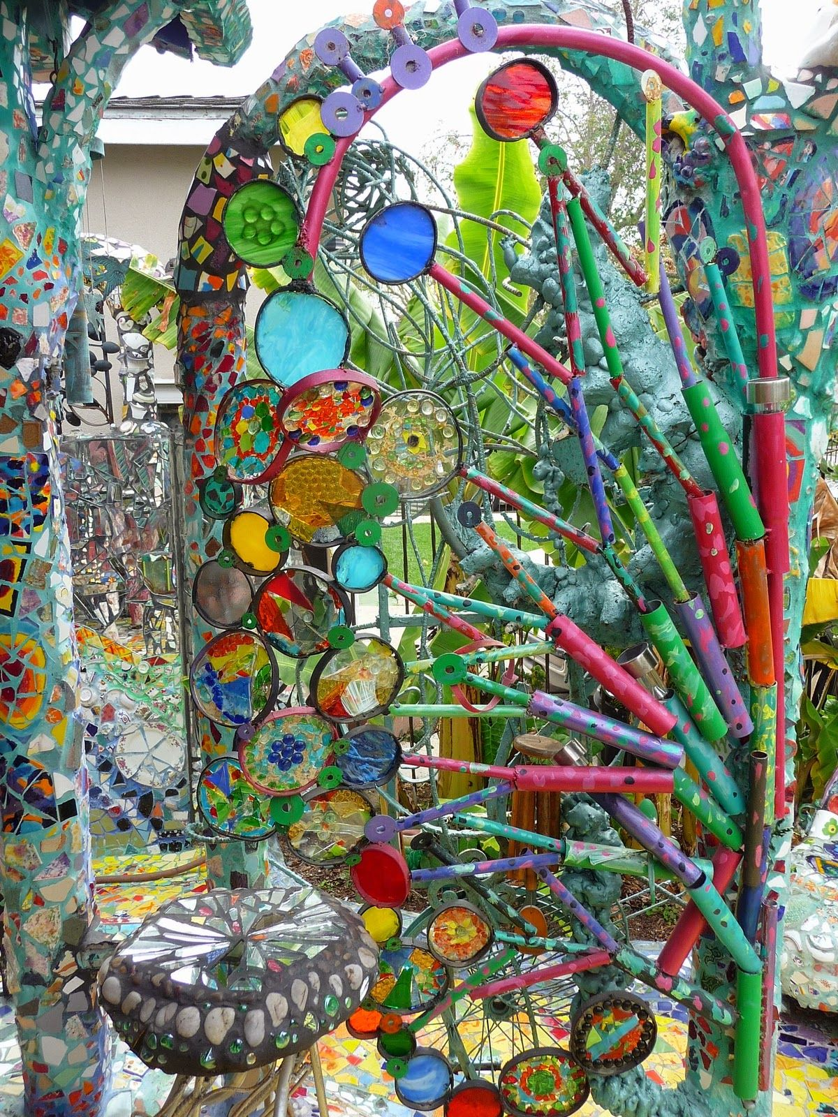 Art For The Garden: Garden Of The Mosaic House In Venice Beach, CA. From The