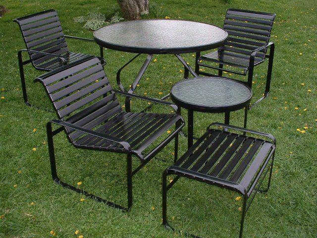 vinyl strap patio furniture styles