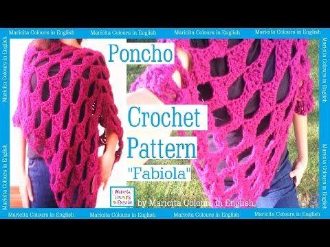 Poncho Crochet Cape Fabiola By Maricita Colours In English Pattern