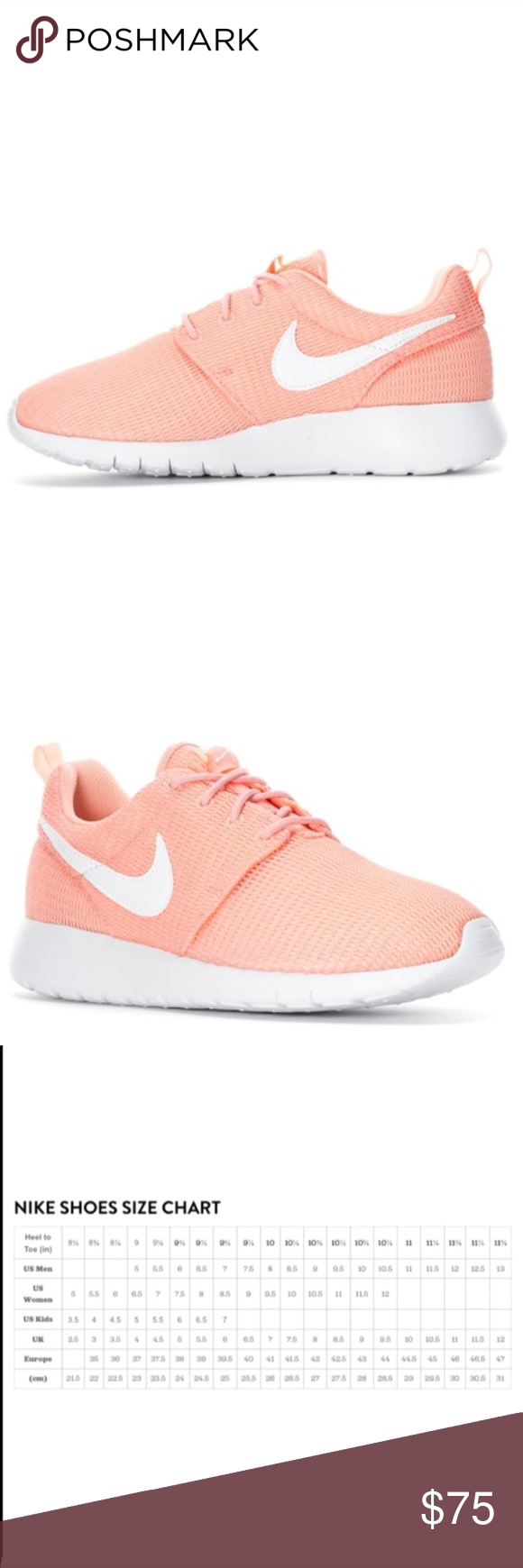 a962845ae3b5 NIKE ROSHE WOMENS SHOES SIZE 8.5 NEW Comes without box. Shoes are a youth  size