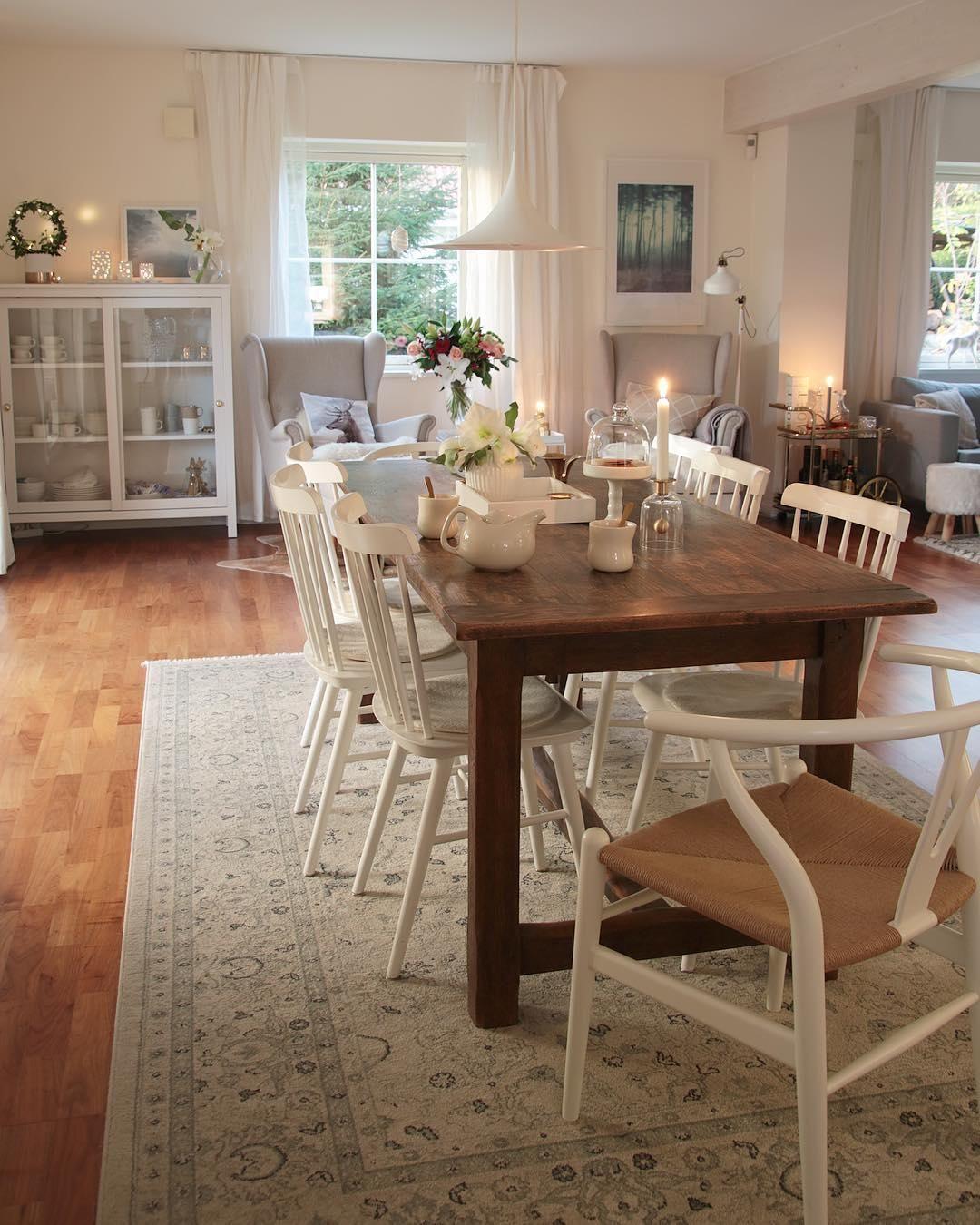 dieses esszimmer im modernen landhausstil berzeugt auf ganzer linie ein wundersch n. Black Bedroom Furniture Sets. Home Design Ideas