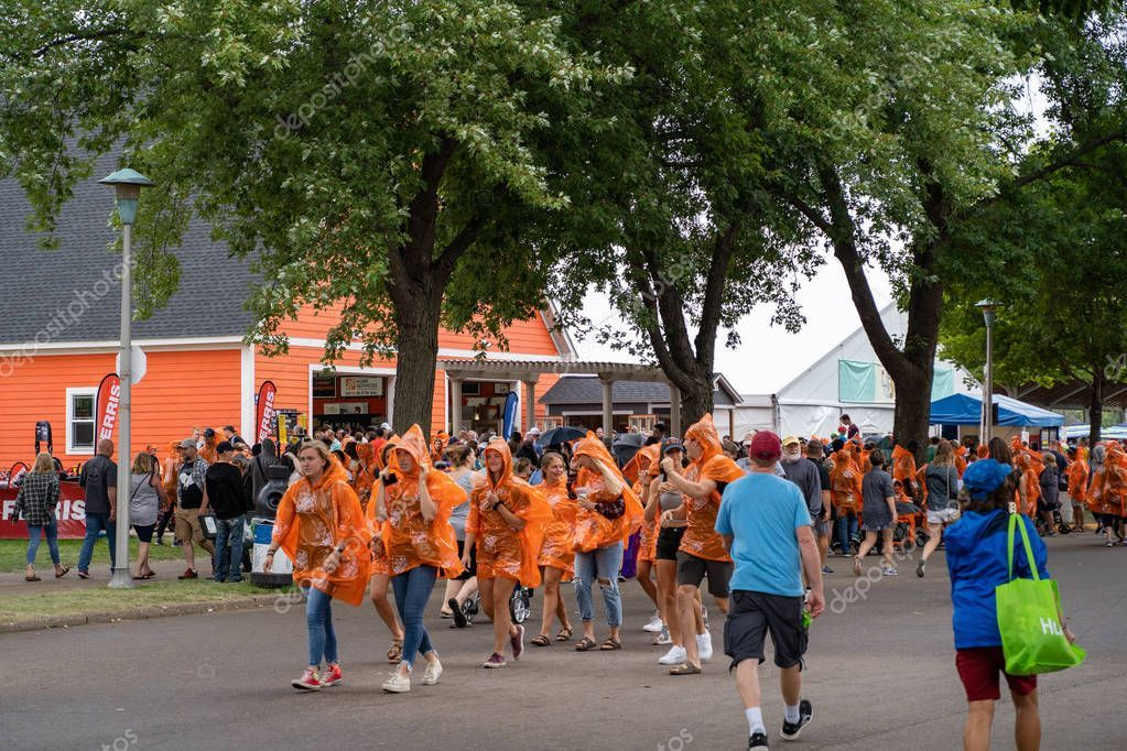 Falcon Heights Mn August 25 2019 Fairgoers Grab Home Depot