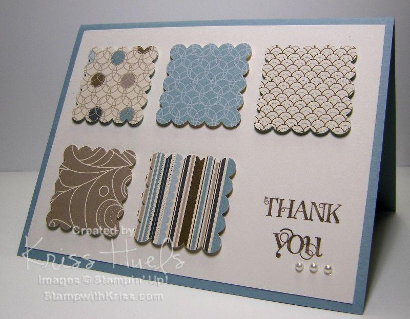 Card Making Ideas Thank You Part - 35: Homemade Thank You Cards   ... Simple Thank You Card You Can Make Lots