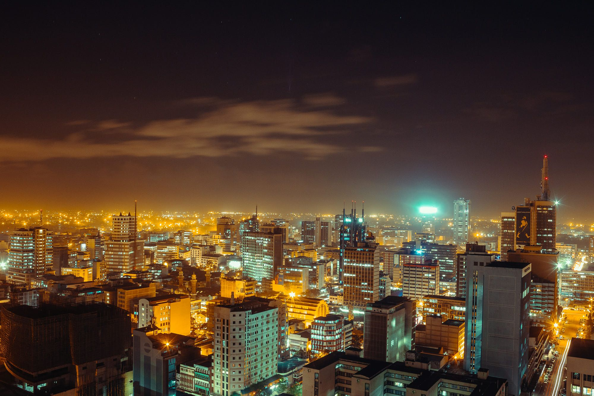 View of Nairobi city at night | Nairobi city, Nairobi, Night city