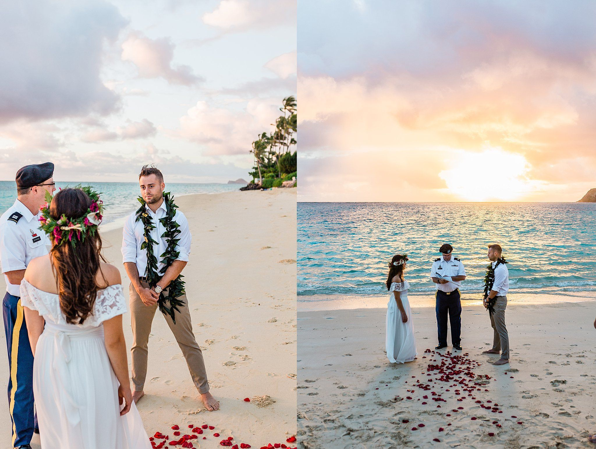 Lanikai Beach Sunrise Wedding With Images Sunrise Wedding