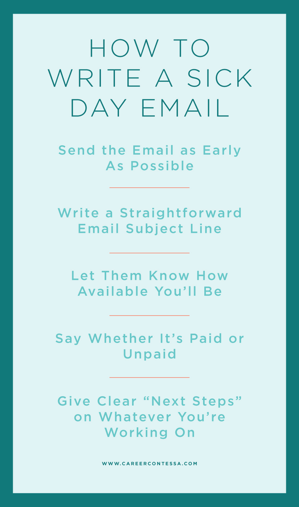 How To Write A Sick Day Email A Template Career Contessa In 2020 Email Subject Lines Career Contessa Job Interview Tips