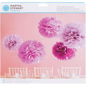 Tissue Paper Pom Pom Kit-Purple