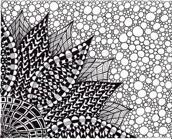 How To Draw Zentangle Patterns Original Jpg Flower Prints Art