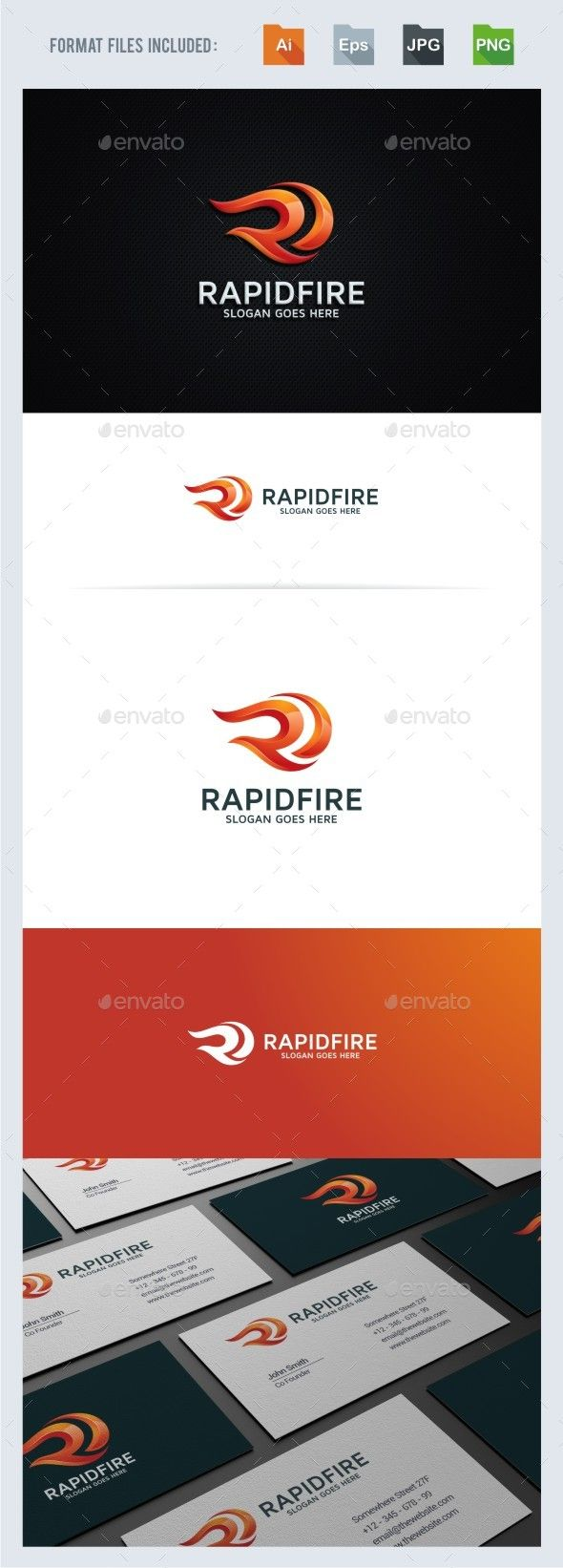 Rapid Fire - R Letter Logo Template