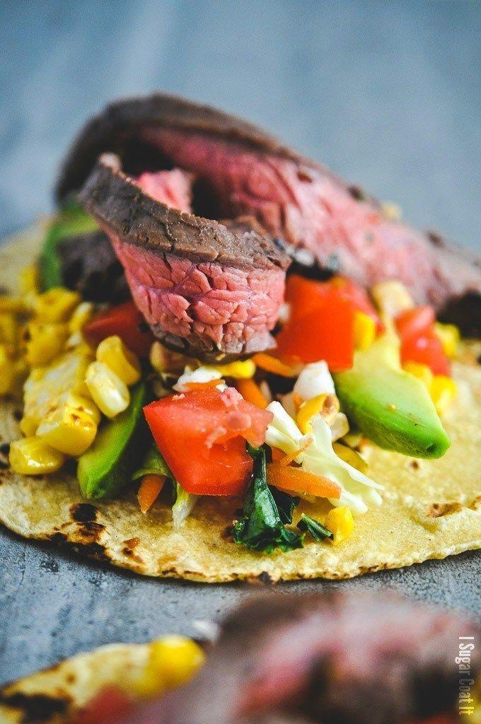 Sous Vide Flank Steak Tacos #flanksteaktacos Sous Vide Flank Steak Tacos - I Sugar Coat It #flanksteaktacos