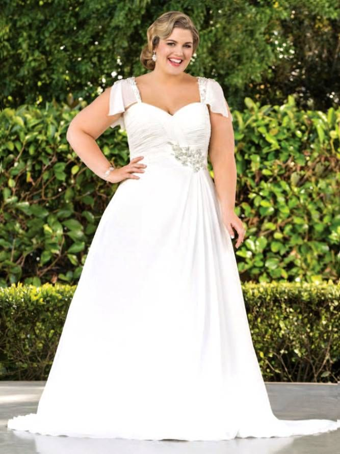 plus size apple shaped wedding dresses - Google Search | Wedding ...