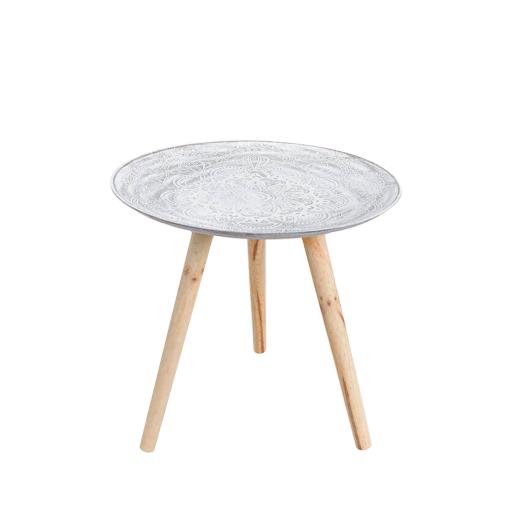 Beistelltisch Holz Weiss Natur Shabby Tisch In 2020 Beistelltisch Holz Beistelltisch Wohnzimmertische