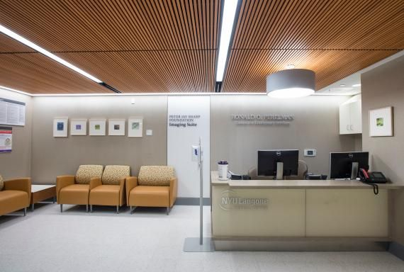 The waiting area for the Imaging Suite Photo NYU Langone Medical