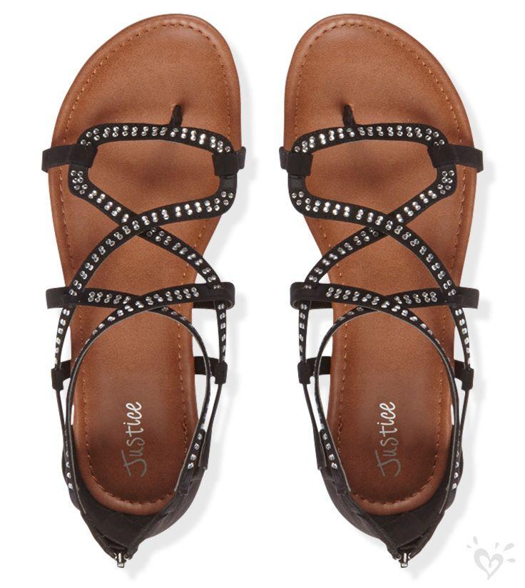 Criss Cross Gladiator Sandals | Justice