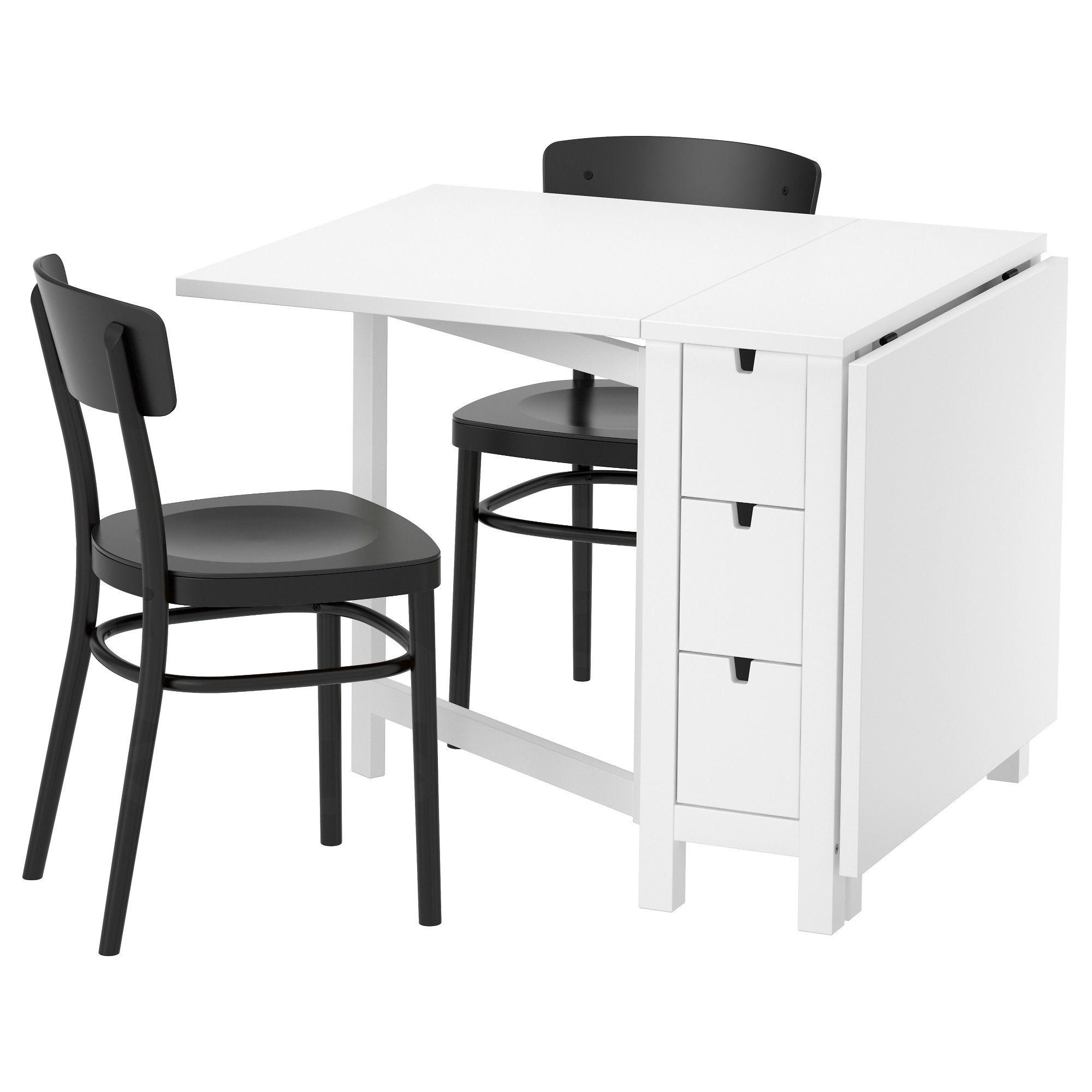 NORDEN / IDOLF Tisch und 2 Stühle, weiß, schwarz   Ideen