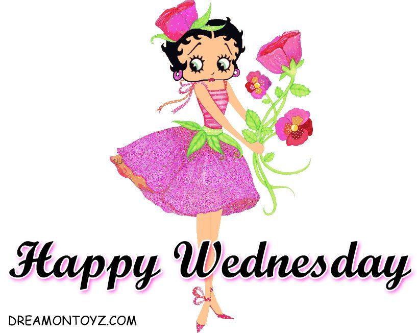 Happy Wednesday Betty Boop Name Pictures Betty Boop Roses Pictures Days Of The Week Betty Boop Betty Boop Pictures Happy Saturday Images