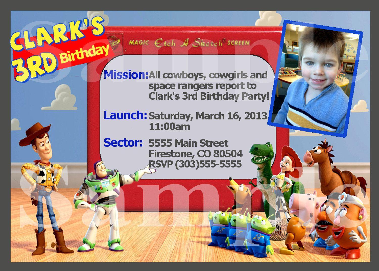 Toy Story Etch a Sketch Inspired Custom Birthday Invitation You ...
