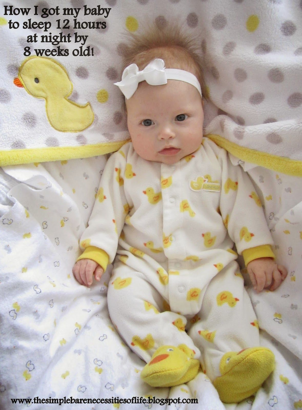 How I got my baby to sleep 12 hours at night by 8 weeks old