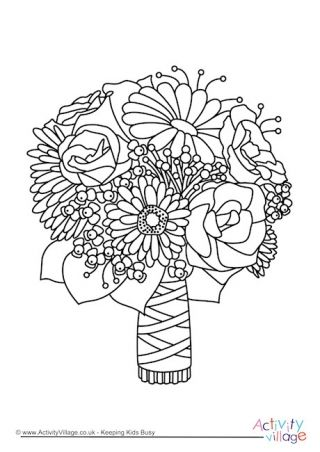 Wedding Bouquet Colouring Page Wedding Coloring Pages Coloring Pages Mothers Day Coloring Pages