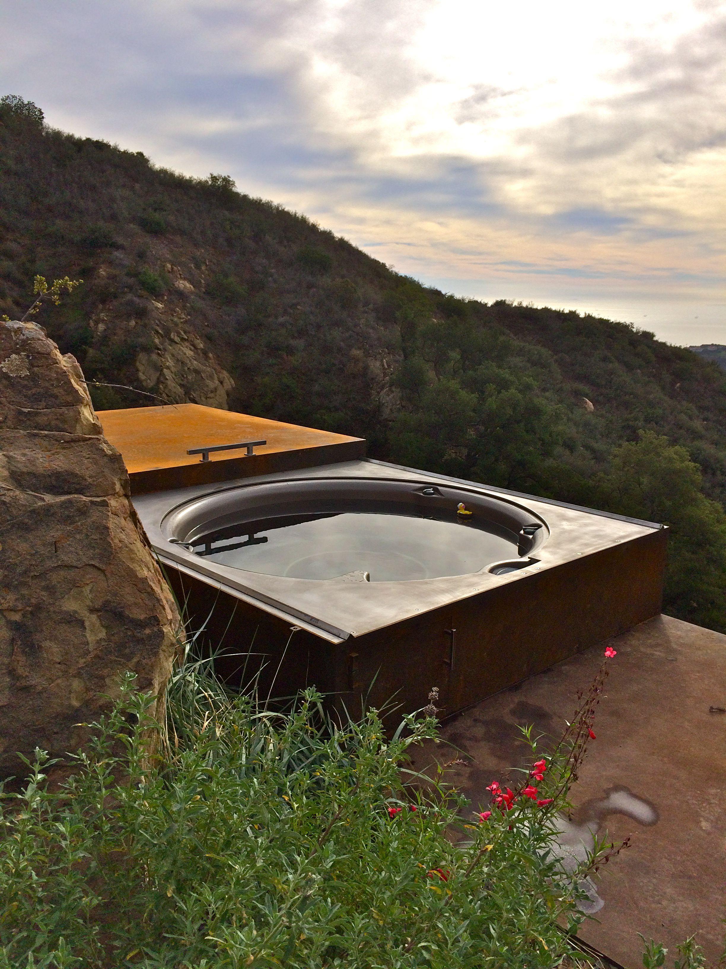 jacuzzi j210 spa set in steel bunker. www.gordonandgrant