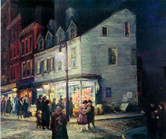 Bleeker Street, Saturday night by John French Sloan