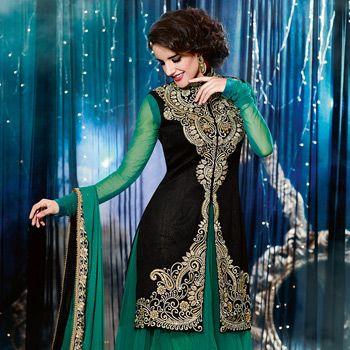 dark green asymmetrical dress