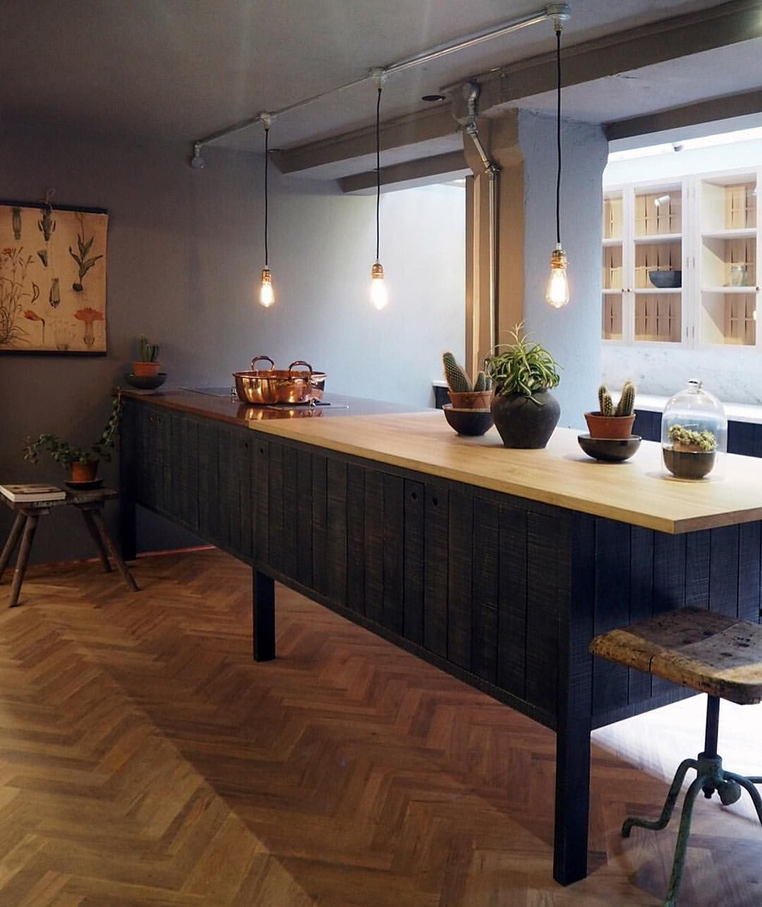 """63 Likes, 2 Comments - FloorsofStone (@floorsofstone) on Instagram: """"We love our Rustic Oak Parquet flooring and it looks stunning with @devolkitchens Sebastian Cox…"""""""