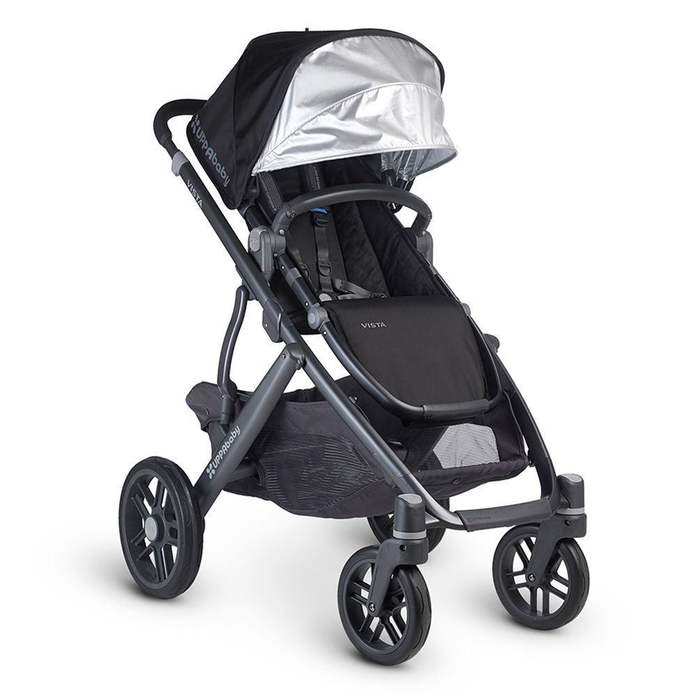 UPPAbaby Vista Stroller Carbon Frame Expands to fit 2