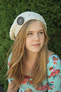 Piper Slouch Hat Teen Hat Knitting Pattern