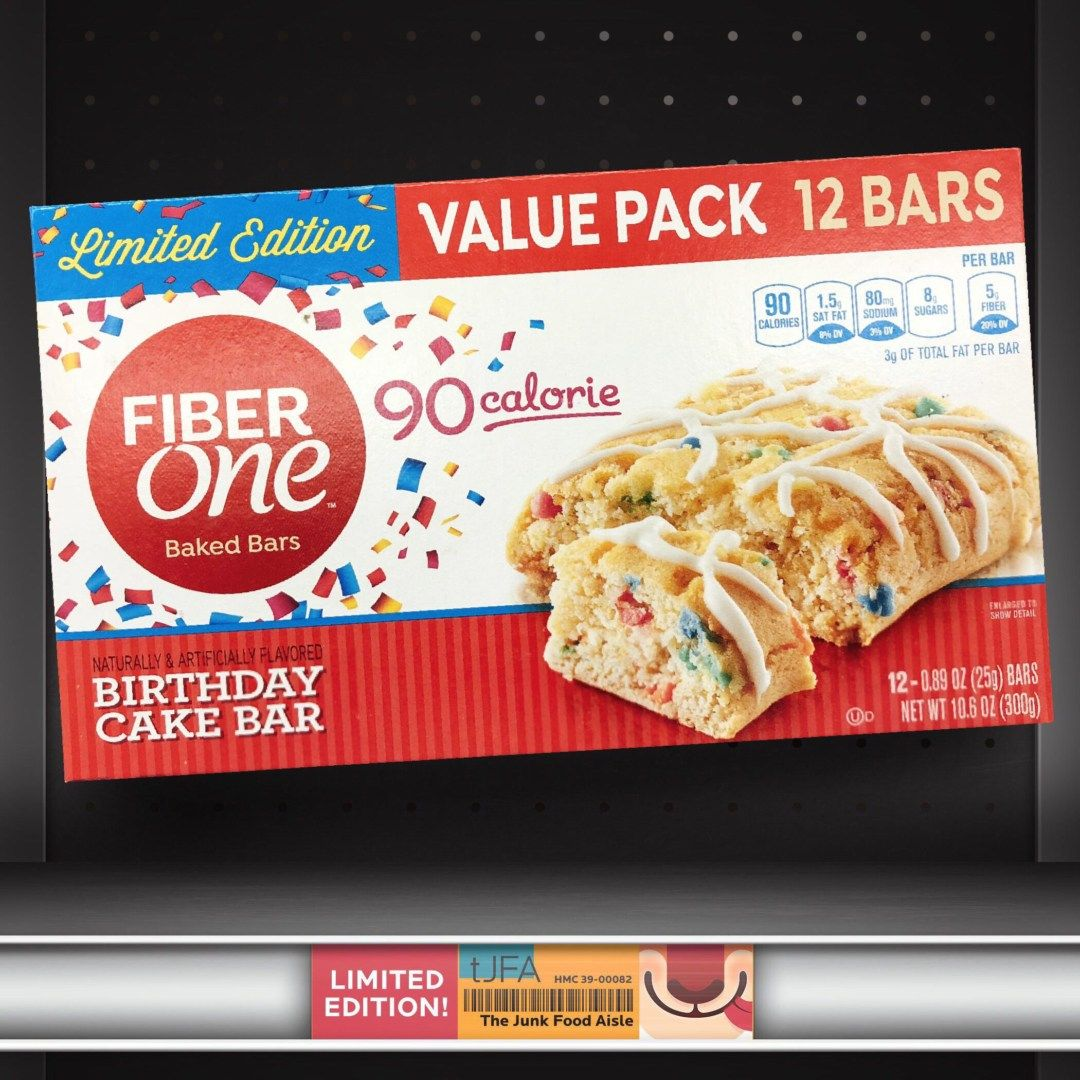 Fiber One Birthday Cake Bar