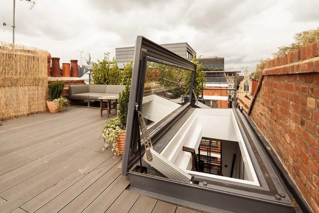 skydoor hinged roof access rooflight our house pinterest dachterrasse terrasse und dachluke. Black Bedroom Furniture Sets. Home Design Ideas