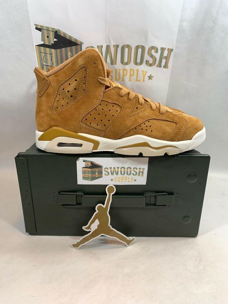 buy popular 82fae 46e62 Nike Air Jordan 6 Retro BG Golden Harvest