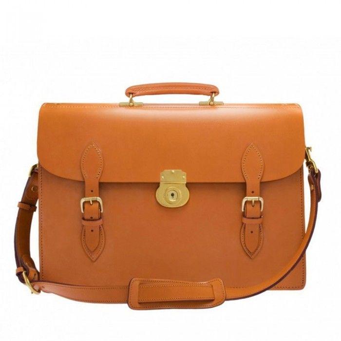 Swaine Adeney Brigg Paternoster Laptop Briefcase in London Tan