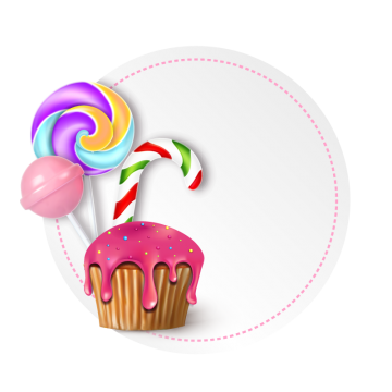 Birthday Illustration With Sweets And Candies Cake Clipart Birthday Celebration Png And Vector With Transparent Background For Free Download Candy Logo Cake Background Birthday Cake Bakery
