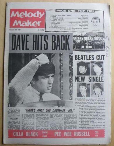 DAVE-CLARK-BEATLES-MELODY-MAKER-MAGAZINE-FEBRUARY-29-1964-DAVE-CLARK-COVER-STORY