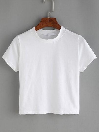 Crew Neck Basic T Shirt   Tøj og Design